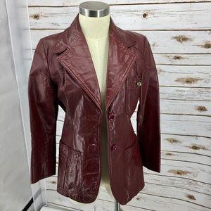 Etienne Aigner Vtg 70s cordovan oxblood leather 10